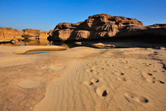 Desierto de la arena y de la piedra Fotos de archivo