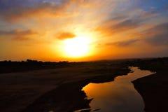 Desierto de la puesta del sol Imágenes de archivo libres de regalías