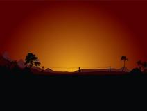 Desierto de la puesta del sol libre illustration