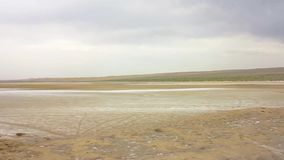 Desierto de la sal de Kashan Maranjab almacen de video