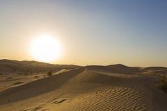 Desierto de las dunas de arena cerca de Dubai en los UAE Foto de archivo libre de regalías