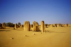 Desierto de los pináculos Imagenes de archivo