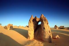 Desierto de los pináculos, Australia del oeste Foto de archivo libre de regalías