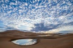 Desierto 2 de Marocco Mahamid Fotografía de archivo libre de regalías