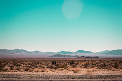 Desierto de Mojave cerca de Route 66 en California Imágenes de archivo libres de regalías