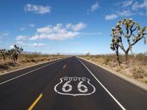 Desierto de Mojave de la ruta 66 fotos de archivo