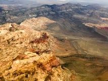 Desierto de montaña del arco iris fotos de archivo libres de regalías