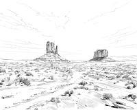 Desierto de Norteamérica Arizona Chihuahuan Ilustración drenada mano del vector libre illustration