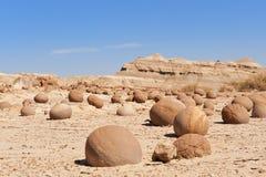 Desierto de piedra en Ischigualasto, la Argentina. Imagen de archivo