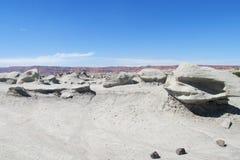 Desierto de piedra gris Foto de archivo libre de regalías