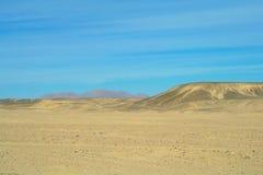 Desierto de Sandy Egyptian Imagen de archivo libre de regalías