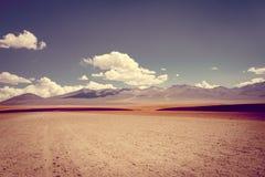 Desierto de Siloli en el reserva de Lipez del sud, Bolivia fotos de archivo