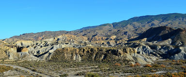 Desierto de Tabernas (Almeria, Spain). Tabernas desert in the province of Almeria (Andalusia, Spain Stock Photos