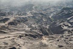 Desierto de Volcano Bromo Fotos de archivo libres de regalías