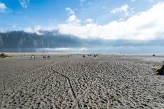 Desierto de Volcano Bromo Imagen de archivo libre de regalías