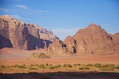 Desierto de Wadi Ram Paisaje de Jordania fotografía de archivo