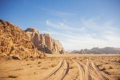 Desierto de Wadi Ram Paisaje de Jordania imágenes de archivo libres de regalías