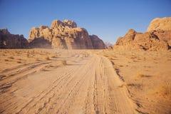 Desierto de Wadi Ram Paisaje de Jordania fotografía de archivo libre de regalías