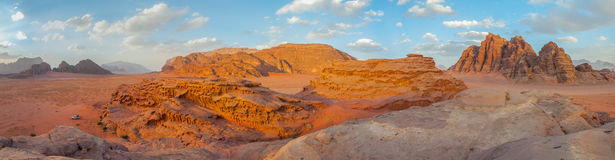 Desierto de Wadi Rum, Jordania Imagen de archivo libre de regalías