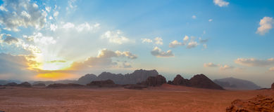 Desierto de Wadi Rum, Jordania Imagen de archivo