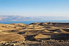 Desierto de Yehuda y mar muerto Imágenes de archivo libres de regalías