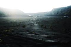 Desierto del cráter Fotos de archivo