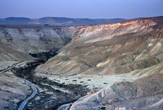 Desierto del Negev cerca de Sde-Boker, Israel Imagen de archivo libre de regalías