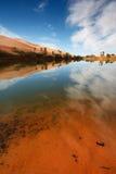 Desierto del oasis Imagen de archivo libre de regalías