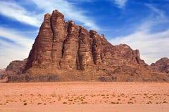 Desierto del ron del lecho de un río seco Fotografía de archivo