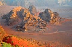 Desierto del ron del lecho de un río seco Foto de archivo libre de regalías