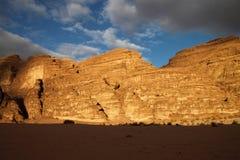 Desierto del ron del lecho de un río seco en Jordania. Fotos de archivo libres de regalías