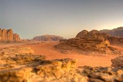 Desierto del ron del lecho de un río seco Fotografía de archivo libre de regalías