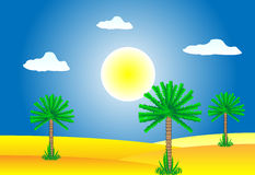 Desierto del Sáhara ilustración del vector
