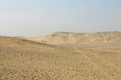 Desierto egipcio en Giza foto de archivo libre de regalías