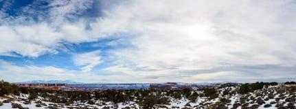 Desierto en Arizona, los E.E.U.U. del invierno Imagen de archivo