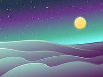Desierto en el ejemplo de la noche claro libre illustration