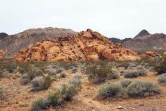 Desierto en el valle del fuego, Nevada Imagen de archivo libre de regalías