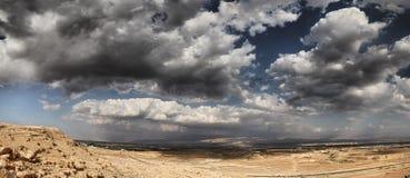 Desierto en Jordan Valley fotos de archivo libres de regalías