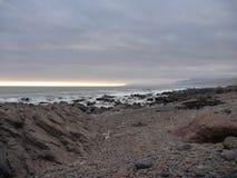 Desierto en la costa del Océano Pacífico Imagenes de archivo