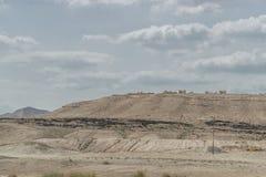 Desierto en la manera a Jerusalén Fotografía de archivo