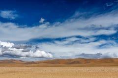 Desierto en la meseta de Tíbet Fotografía de archivo libre de regalías