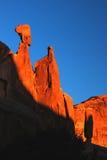 Desierto en la salida del sol Imagenes de archivo