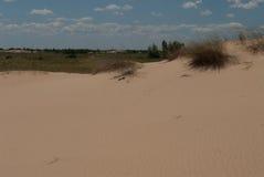 Desierto entre los campos Imagenes de archivo