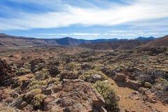 Desierto guijarroso de Tenerife Imagenes de archivo