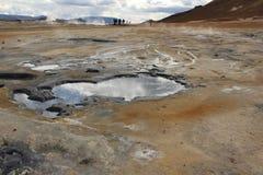 Desierto islandés de la solfatara Fotografía de archivo