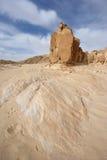 Desierto Jordania del ron del lecho de un río seco Imagen de archivo