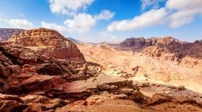 Desierto jordano Foto de archivo libre de regalías