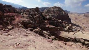 Desierto jordano almacen de metraje de vídeo