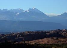 Desierto a las montañas Fotografía de archivo