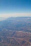 Desierto, montañas y cielos de Sinaí Imagen de archivo